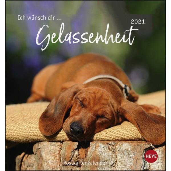 Ich wünsch dir ... Gelassenheit Postkartenkalender 2021