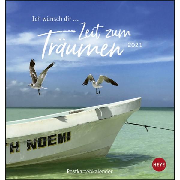 Ich wünsch' dir ... Zeit zum Träumen Postkartenkalender 2021.