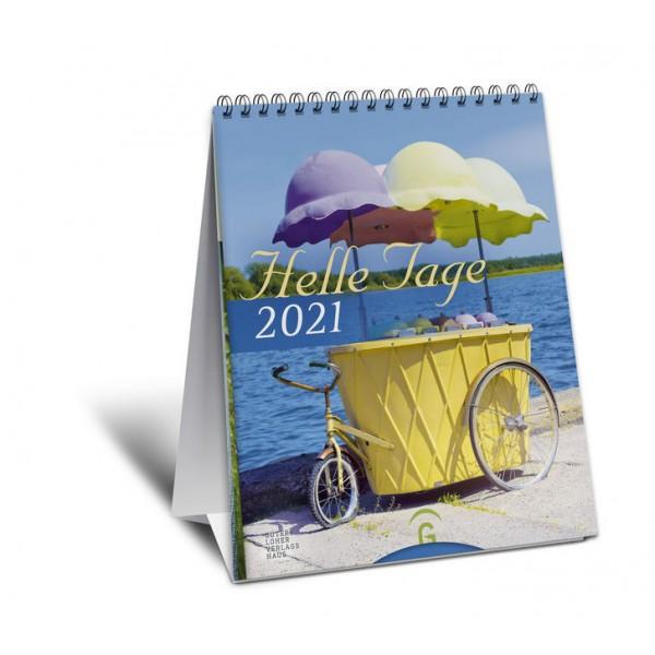 Helle Tage 2021.   Postkartenkalender zum Aufstellen