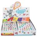 ABC SPASS Sticker Buchstaben/ Zahlen bunt , 1 Bogen