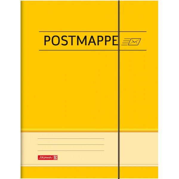 Brunnen Postmappe - A4 - gelb für die Schule - Pappe