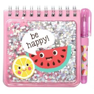 Be happy Notizset Funny Glitter