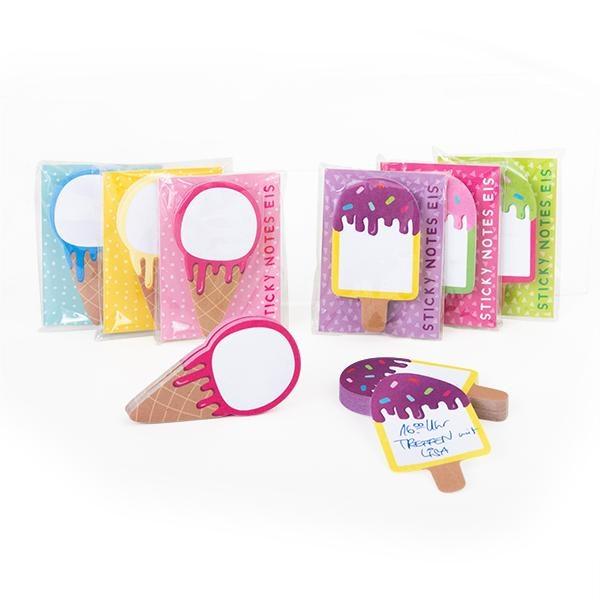 GOOD FEELINGS Mini Sticky Notes Eismotive 80 Blatt, 6-fach sortiert