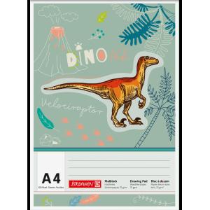 Μπλοκ ζωγραφικής Dinosaurier A4