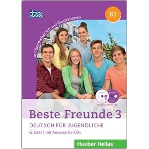 Beste Freunde 3 - Glossar mit Aussprache-CDs (Γλωσσάριο με 2 CDs για τη σωστή προφορά των λέξεων)