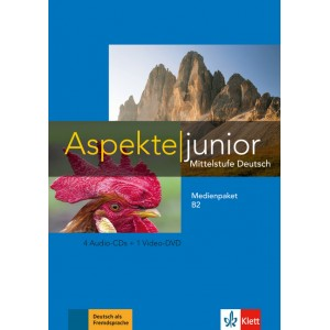 Aspekte junior B2, Medienpaket (4 Audio-CDs + 1 Video-DVD)