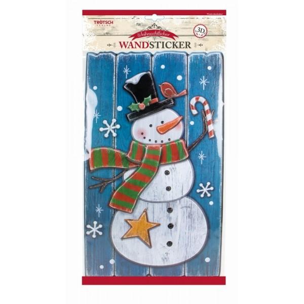 Weihnachtlicher Wandsticker in Holzoptik