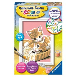 Malen nach Zahlen - Katzenbabys