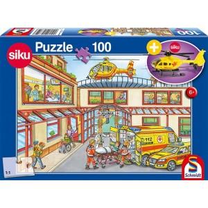Rettungshubschrauber, 100 Teile, mit add on (Rettungshubschrauber)  (Kinderpuzzle)