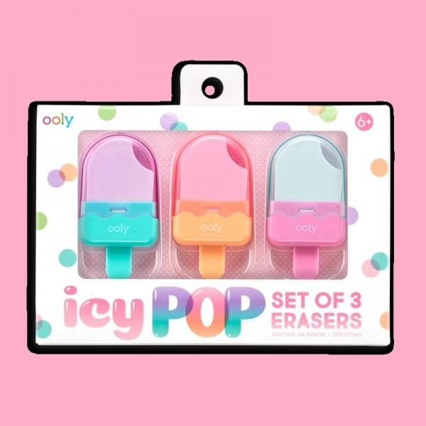 OOLY Icy Pop Erasers Set of 3