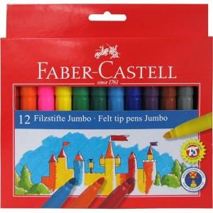 Faber-Castell Μαρκαδόροι ζωγραφικής  jumbo 12 χρωμάτων