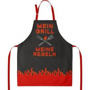 "Schürze ""Mein Grill - Meine Regeln"""